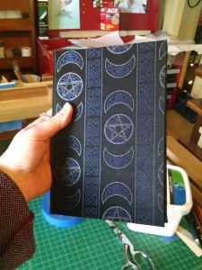 Custom pentacle-cloth covered book